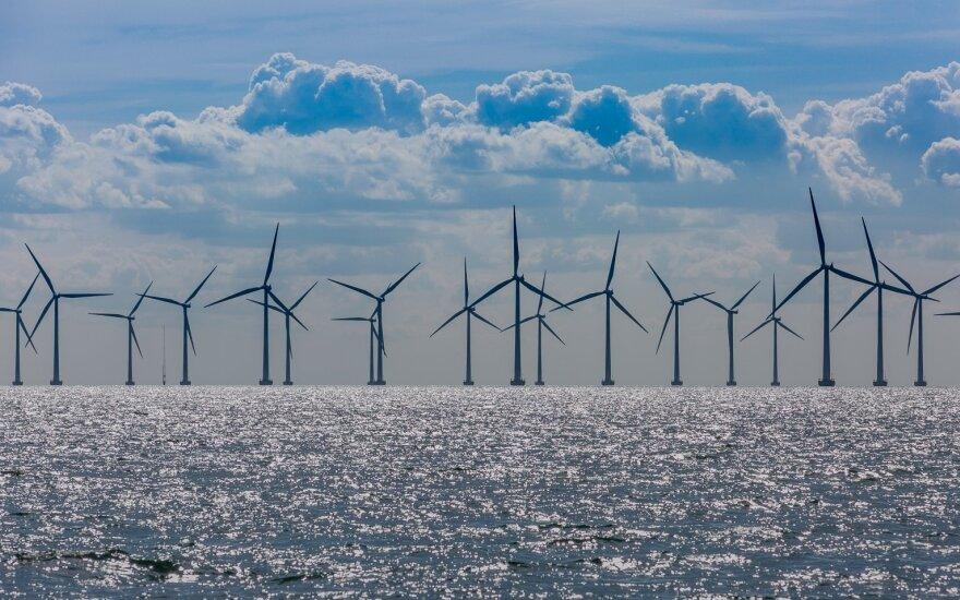 Vėjo elektrinės jūroje