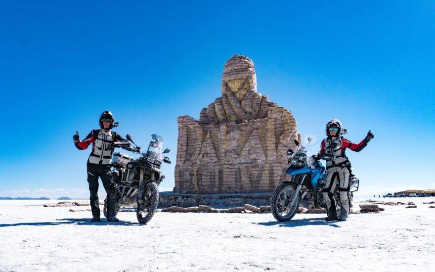 Motociklais aplink pasaulį: naujas rekordinės kelionės etapas Šiaurės Amerikos žemyne
