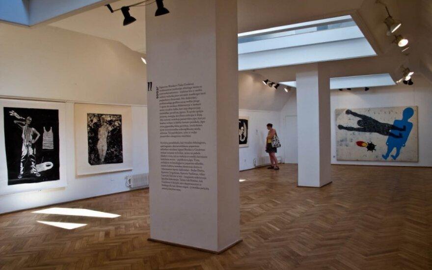 """Parodos ekspozicija galerijoje """"Arka"""" (A.P.Virbickaitės nuotr.)"""