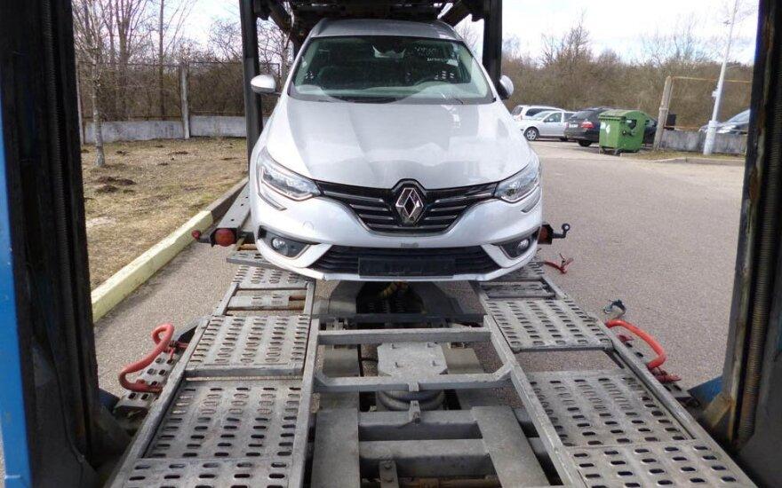 Belgijos teisėsaugininkų ieškomą automobilį surado Lietuvos pasieniečiai