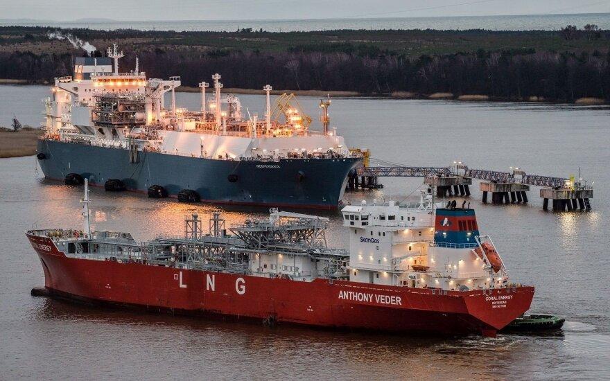 Lietuvoje pirmą sykį į mažos apimties laivą perkrauta SGD