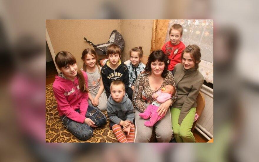Diana Miškinienė su vaikais