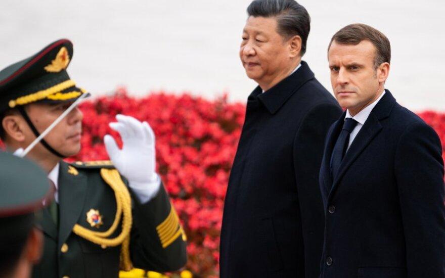 Emmanuelis Macronas ir Xi Jinpingas