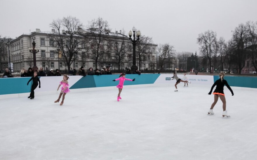Vilniuje bus įrengtos penkios ledo čiuožyklos