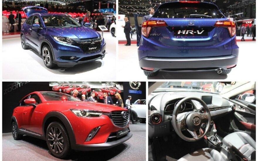 Honda HR-V ir Mazda CX-3