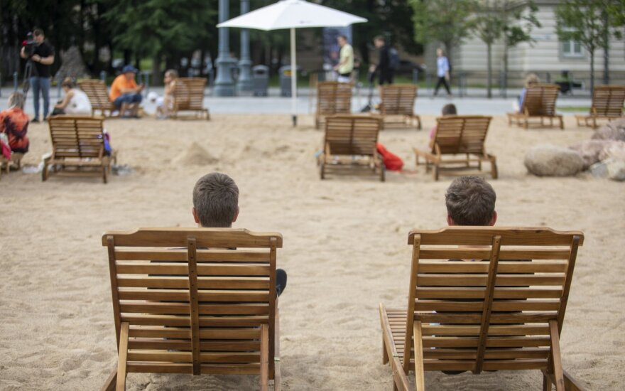 Vilnius opens beach at city center