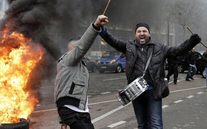 Peugeot darbuotojų protestas