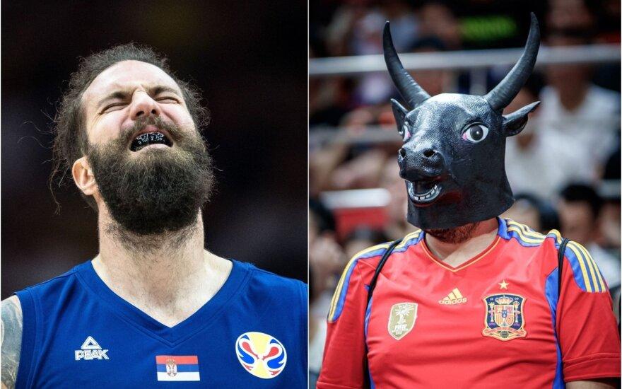 Pasaulio čempionate – diena, kai klysti nebegalima: išbandymas serbams ir lenkų iššūkis Ispanijai
