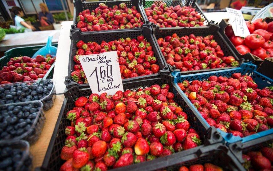 Fruit on sale in a Lithuanian market