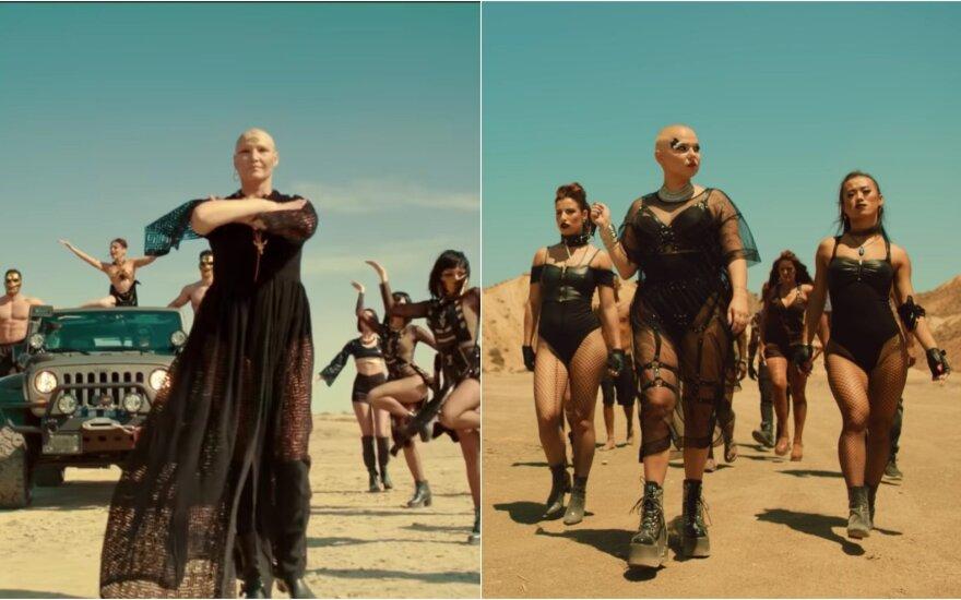 """Vaizdo klipų """"Cleopatra"""" ir """"Wild"""" stopkadrai"""