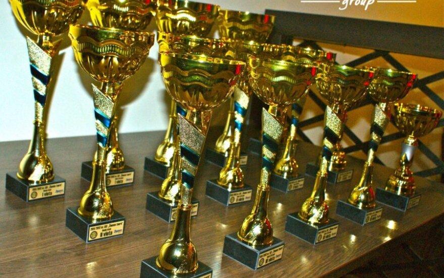 """Kartingų """"Žiemos taurės"""" prizininkai dalijosi apdovanojimus"""