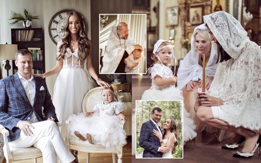 Viktorijos Siegel ir Danieliaus Bunkaus dukters krikštynos
