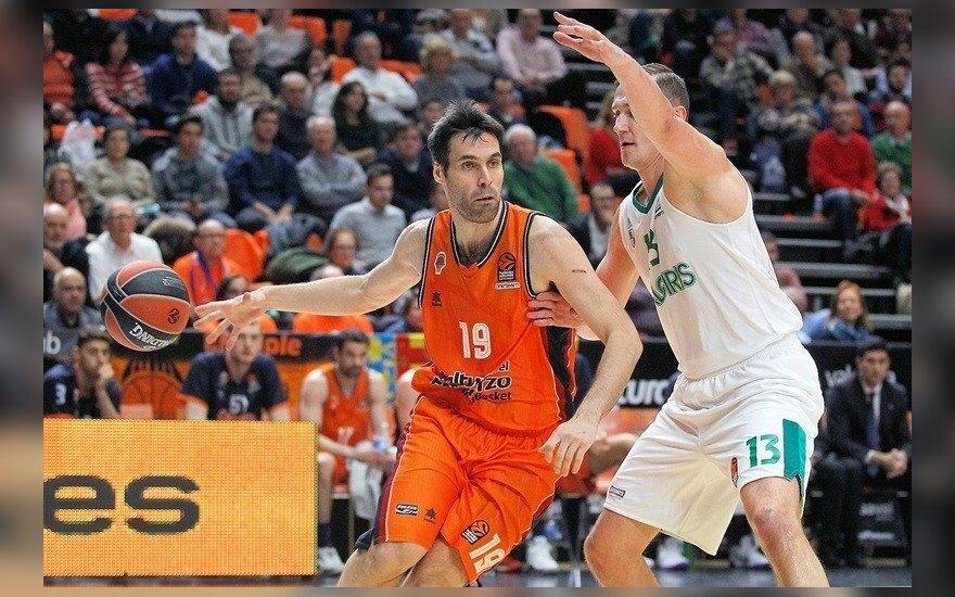 """Eurolygos dvikova: Valensijos """"Basket""""– """"Žalgiris"""""""