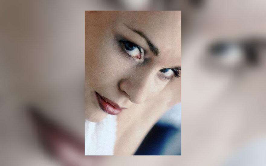 Akys, makiažas, moteris