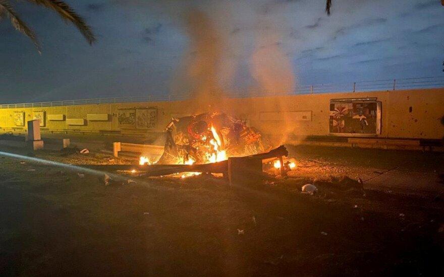 Bagdade per JAV smūgį nukautas svarbus Irano sukarintų pajėgų vadas Q. Soleimani