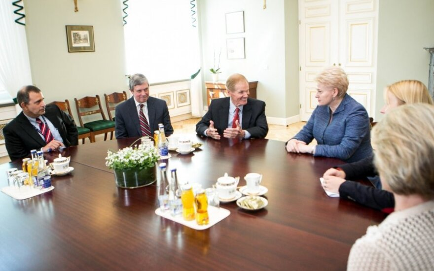 President Grybauskaitė met with members of the US Congress