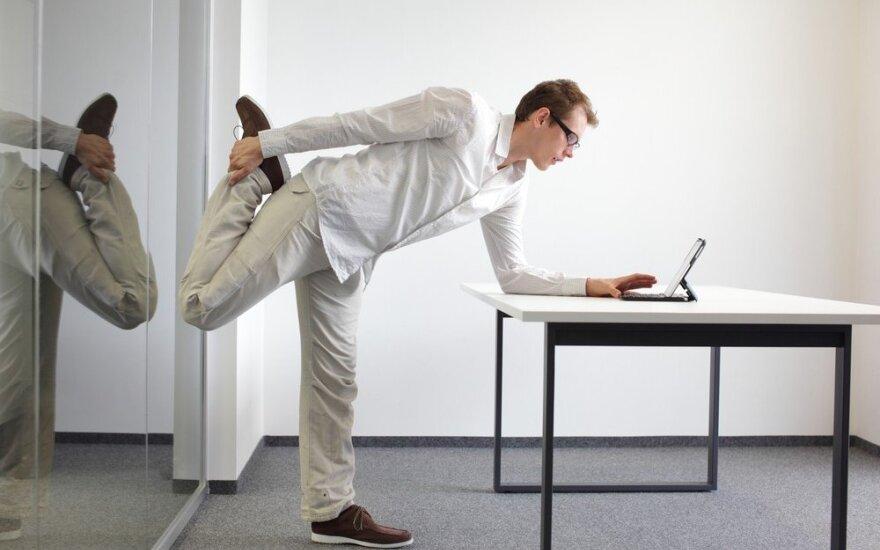 Mankšta darbo vietoje – naujas būtinas įprotis