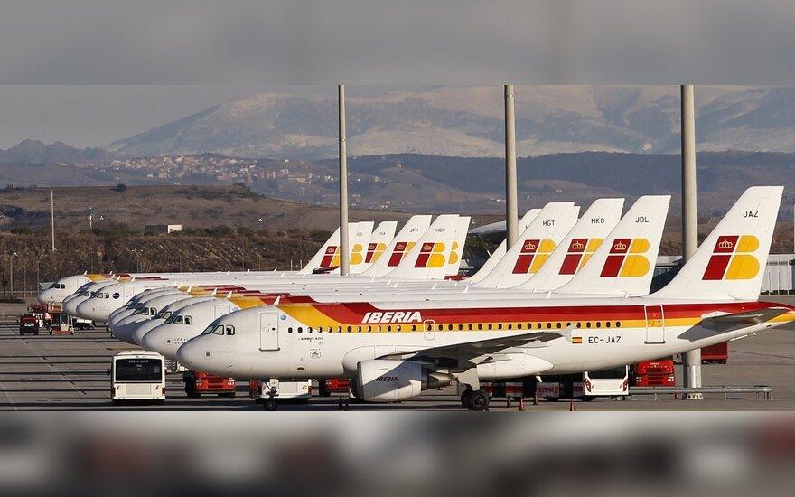 """Kompanijos """"Iberia"""" lėktuvai"""