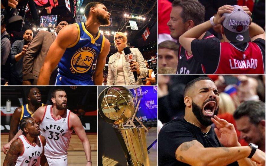 """Ar """"Raptors"""" nepametė aukso žiedų? Vietoje sausai laimėto finalo – grėsmė likti tuščiomis"""