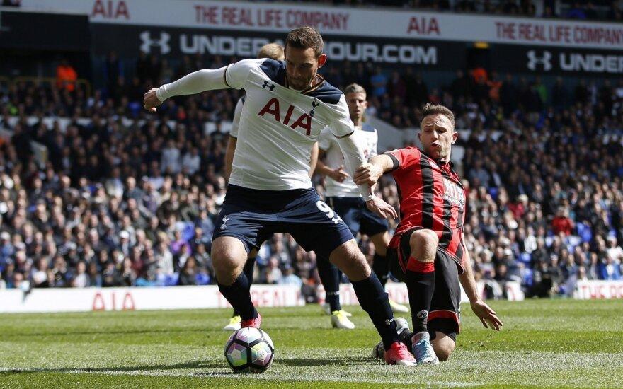 Premier lyga, Tottenham Hotspur - AFC Bournemouth mačo akimirka, Vincent Janssen pelno įvartį