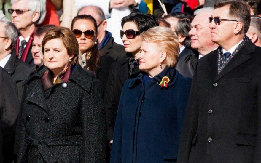 Loreta Graužinienė, Dalia Grybauskaitė ir Algirdas Butkevičius