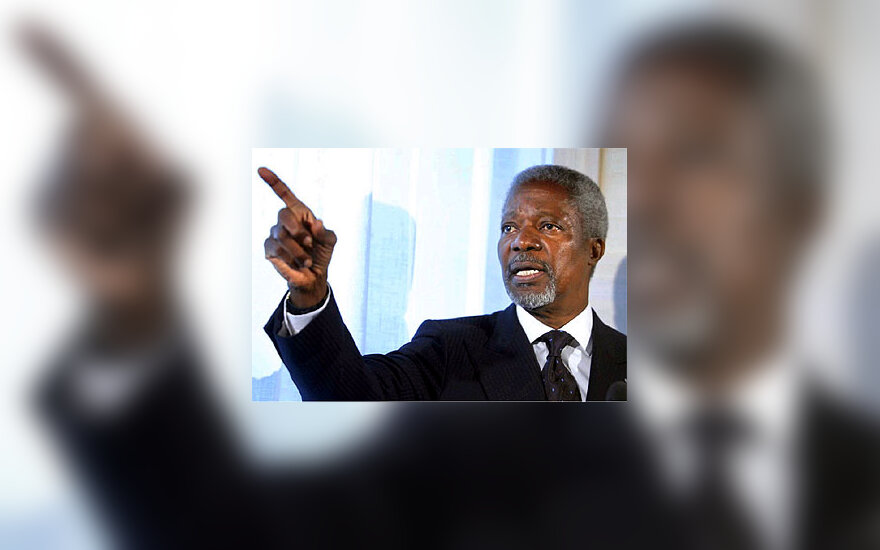 JT generalinis sekretorius Kofi Annan