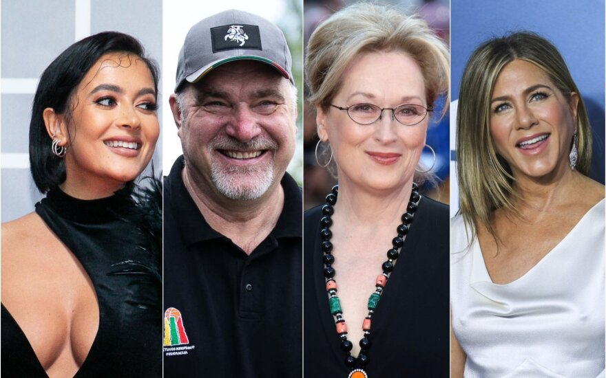 K. Meschino, A. Sabonis, M. Streep, J. Aniston / Foto: Delfi, Vida Press