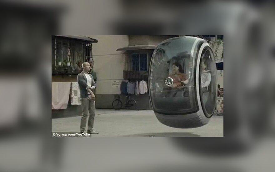 """""""Hover Car"""": sklandantis """"Volkswagen"""" automobilis"""