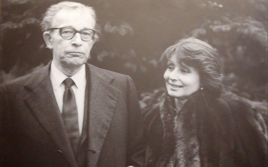 Stasys Lozoraitis with Daniela D'Ercole.  Phots Lithuanian Embassy Washington, DC