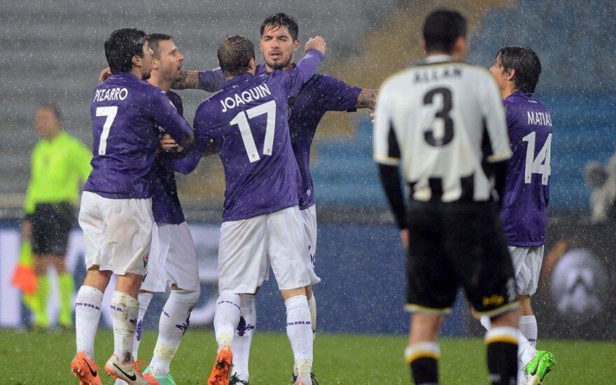 """Florencijos """"Fiorentina"""" futbolininkai"""