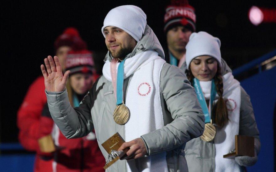 Bręsta naujas skandalas: Pjongčange medalį laimėjusio ruso dopingo mėginys – teigiamas
