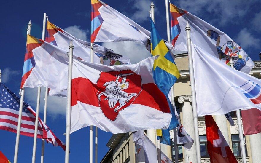Pasaulio ledo ritulio čempionate dalyvaujančių šalių vėliavos