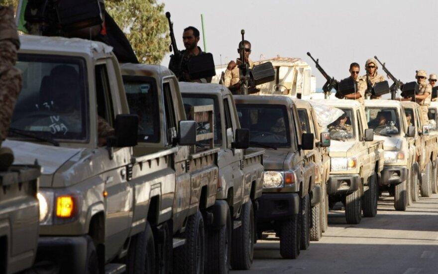 Libijos ginkluotosios pajėgos ties Bani Validu