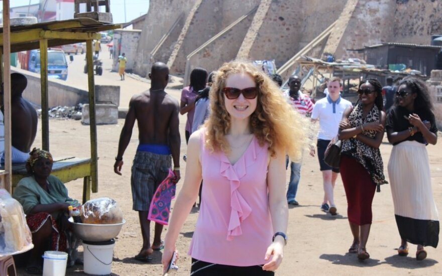Lithuanian student Monika Povilėnaitė got a fascinating look at life in the West African state of Ghana