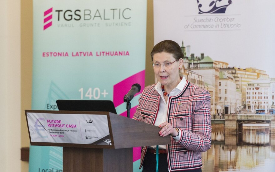 Ambassador of Sweden Maria Christina Lundqvist delivering the opening remarks at the Swedish Business Forum in VIlnius Photo Ludo Segers @ The Lithuania Tribune