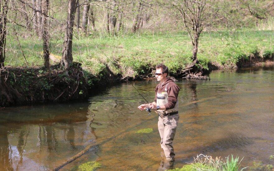 Akimirka iš žvejybos Meros upėje
