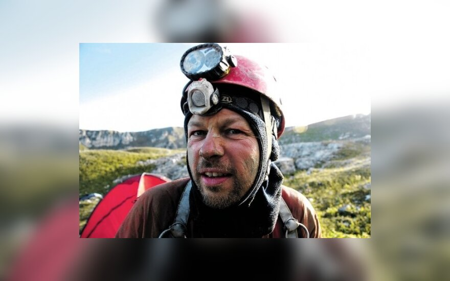 A.Gudaitis, pasiekęs giliausią Voronjos (Gruzija) pasaulio urvą
