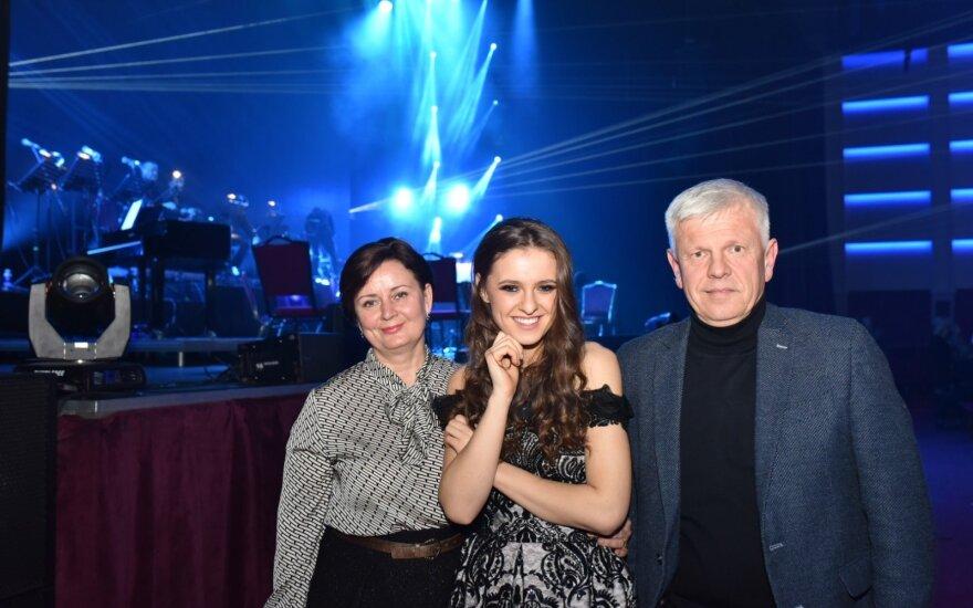 Koncerto metu Ieva Zasimauskaitė pasveikino ypatingą žmogų