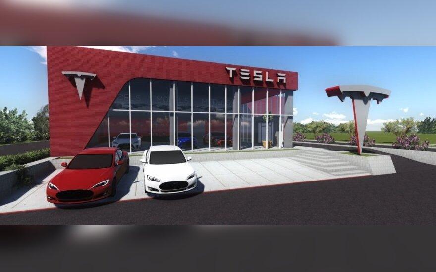Tesla Motors elektromobilių stotelės