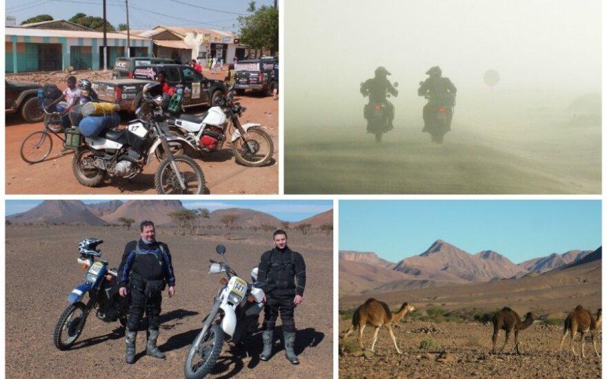 Brolių kelionė motociklais per Afriką