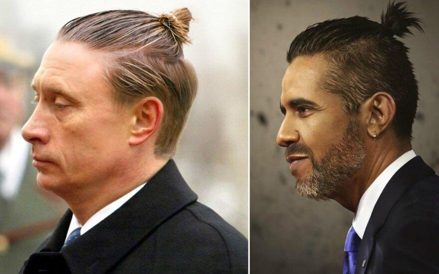 Pasaulio lyderiai moderniomis šukuosenomis