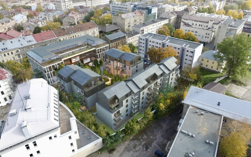 Naujas biurų ir butų kompleksas Naujamiestyje, Algirdo gatvėje (Vilnius)