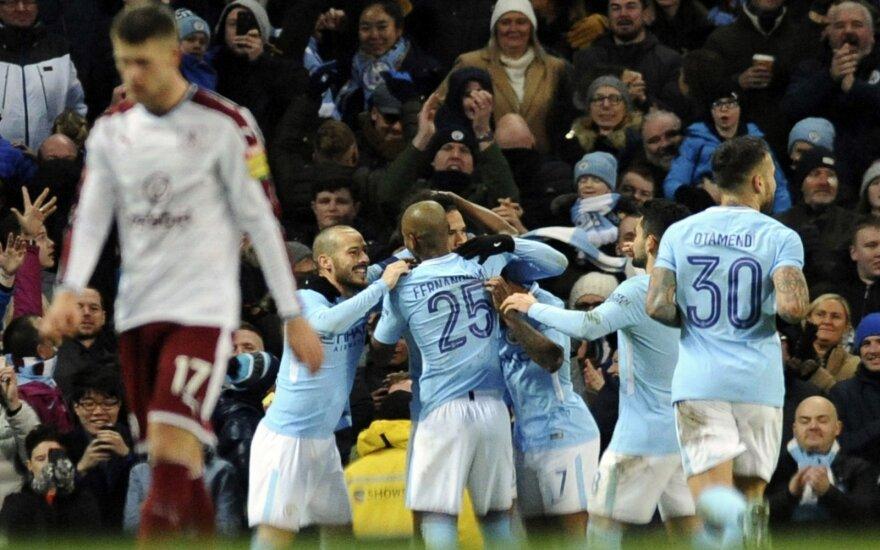 """""""Man City"""" džiaugiasi pergale prieš """"Burnley"""""""