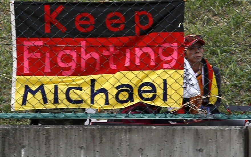 Vėliava, skirta palaikyti Michaelį Schumacherį