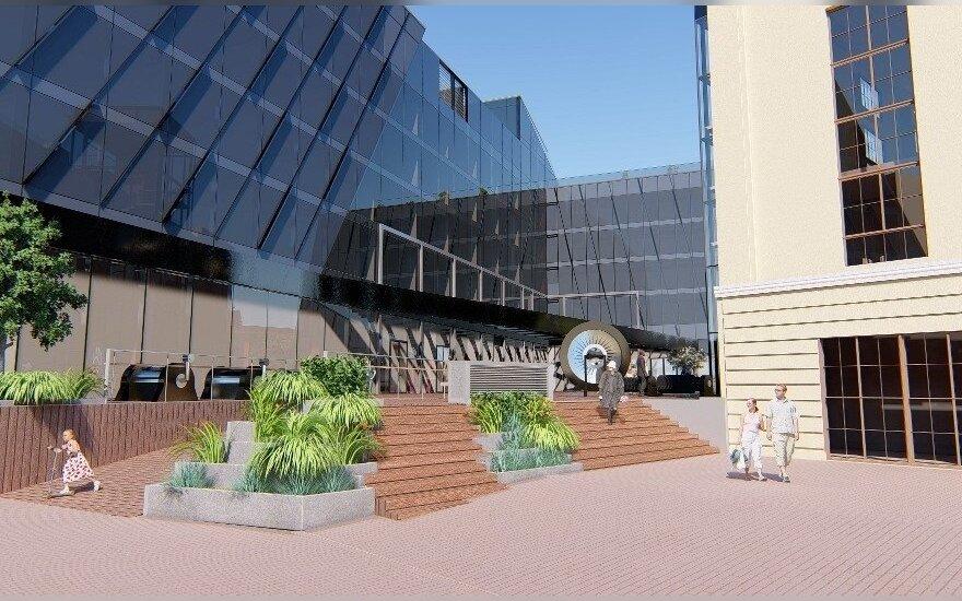 Atsinaujinusio Energetikos ir technikos muziejaus vizualizacija