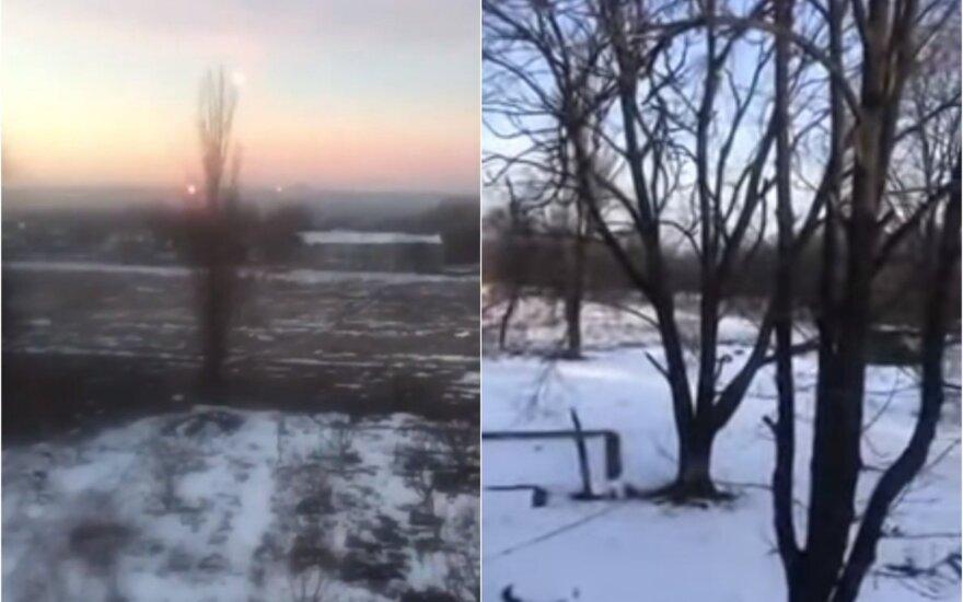 Prorusiški separatistai puolė Ukrainos pajėgas, šaudyta Minsko susitarimais uždraustais ginklais