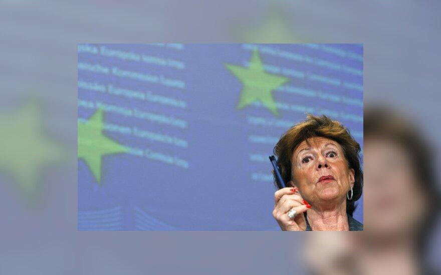 ES konkurencijos komisarė Neelie Kroes