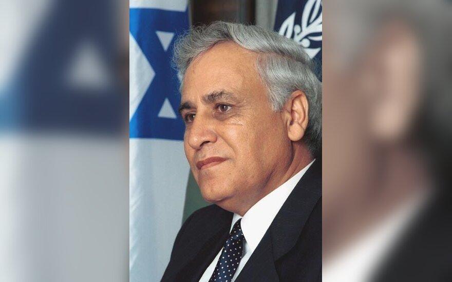 Izraelio prezidentas Moshe Katsavas