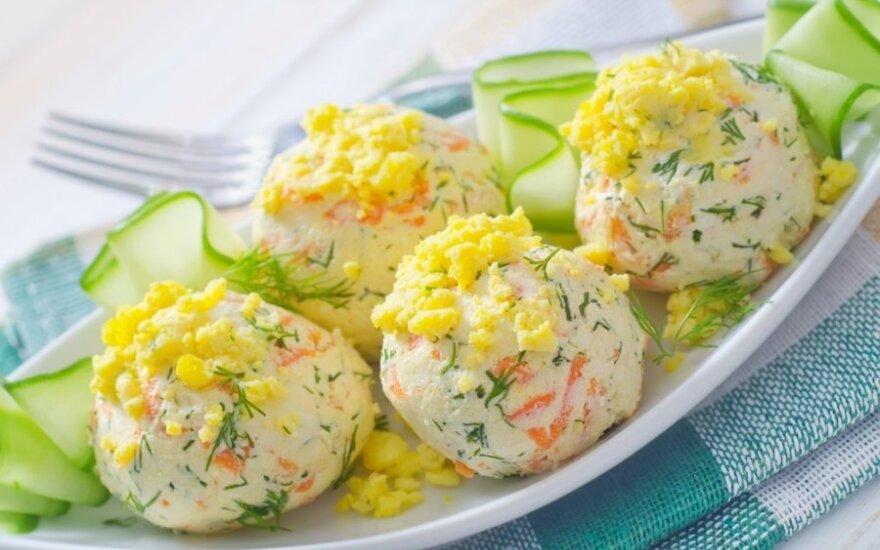 Sūrio ir kiaušinių rutuliukai