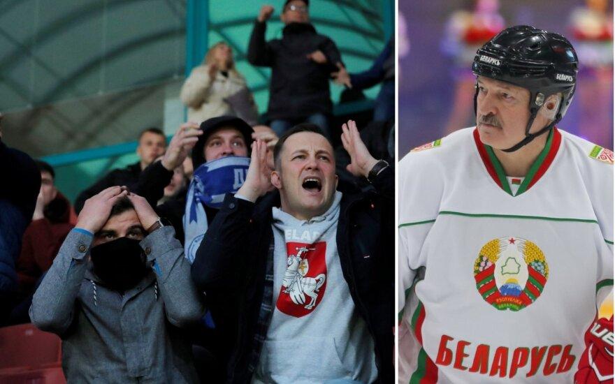 Bresto Dinamo futbolo sirgaliai ir Aleksandras Lukašenka